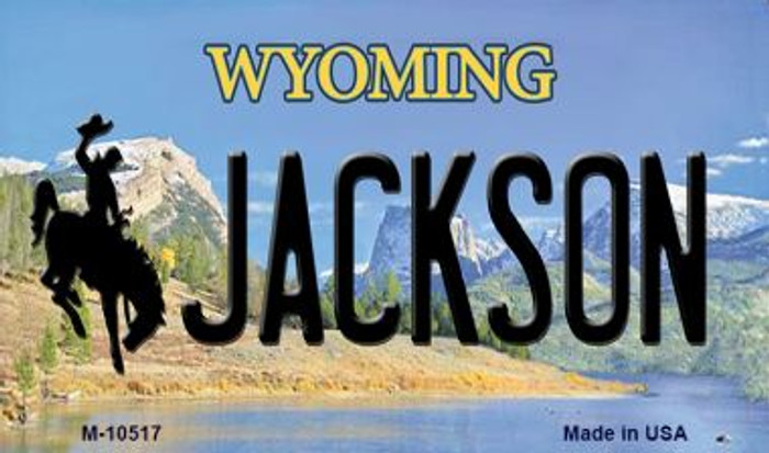 Jackson Wyoming State License Plate Magnet M-10517