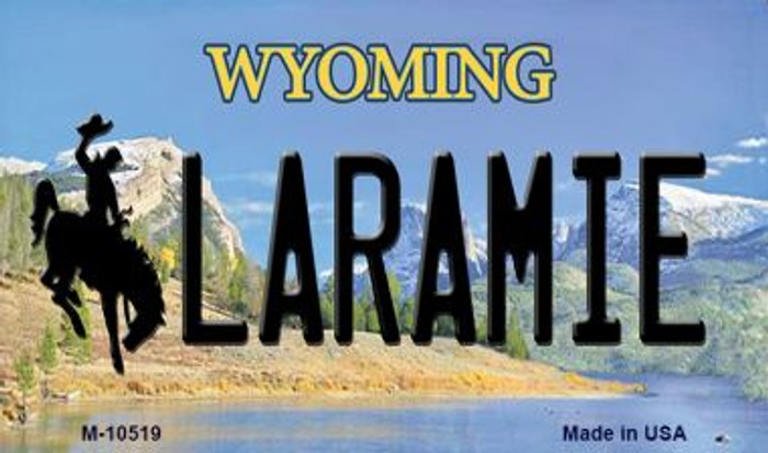 Laramie Wyoming State License Plate Magnet M-10519