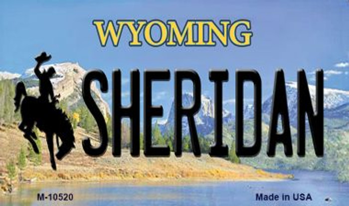 Sheridan Wyoming State License Plate Magnet M-10520