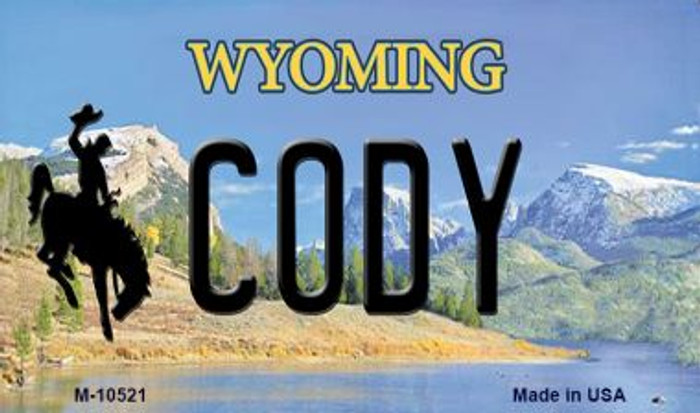 Cody Wyoming State License Plate Magnet M-10521