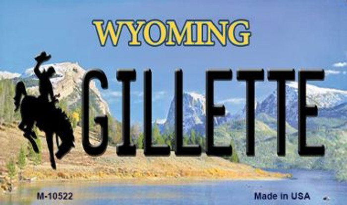 Gillette Wyoming State License Plate Magnet M-10522