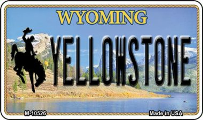 Yellowstone Wyoming State License Plate Magnet M-10526
