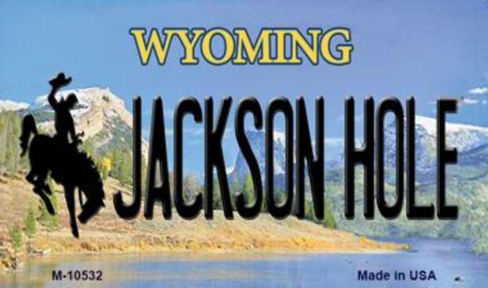 Jackson Hole Wyoming State License Plate Magnet M-10532
