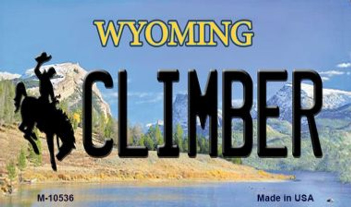Climber Wyoming State License Plate Magnet M-10536