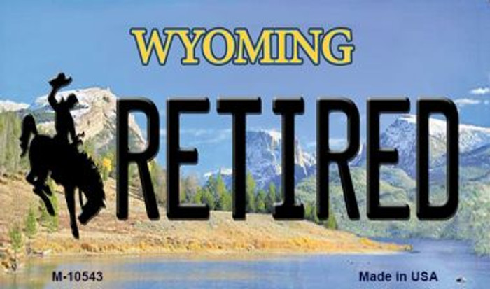 Retired Wyoming State License Plate Magnet M-10543