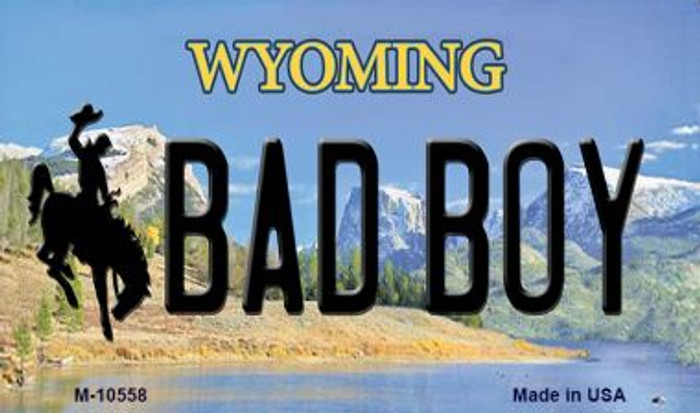 Bad Boy Wyoming State License Plate Magnet M-10558