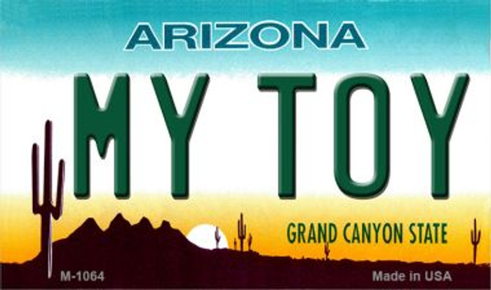 My Toy Arizona State License Plate Magnet M-1064