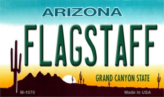 Flagstaff Arizona State License Plate Magnet M-1070