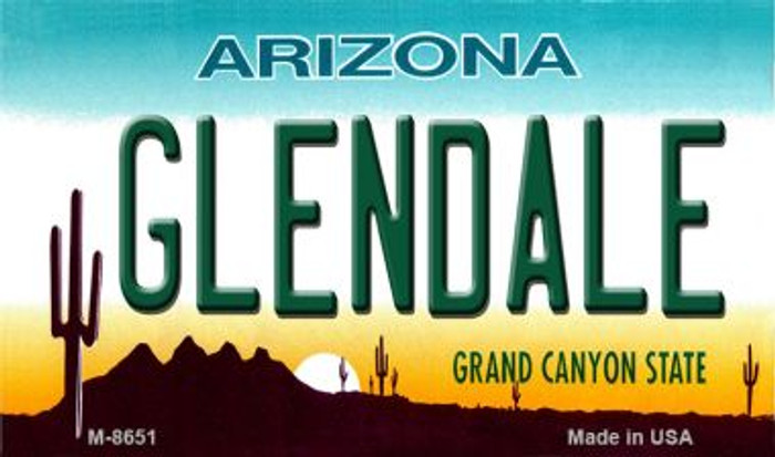 Gilbert Arizona State License Plate Magnet with Sticky Notes