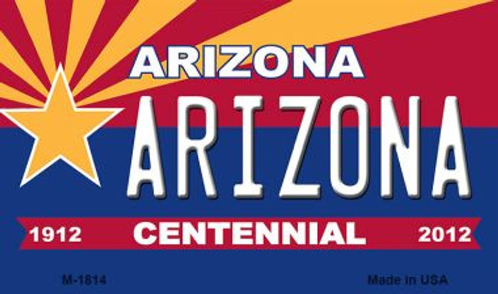 Arizona Centennial State License Plate Magnet M-1814