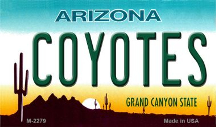 Coyotes Arizona State License Plate Magnet M-2279