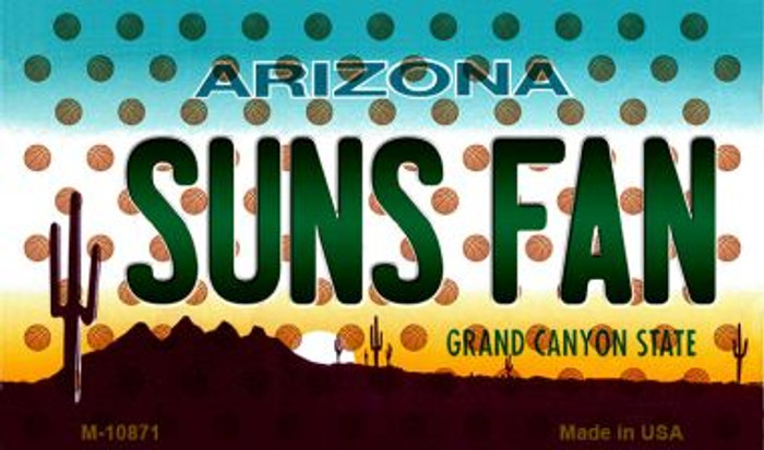 Suns Fan Arizona State License Plate Magnet M-10871