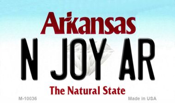 N Joy AR Arkansas State License Plate Magnet M-10036