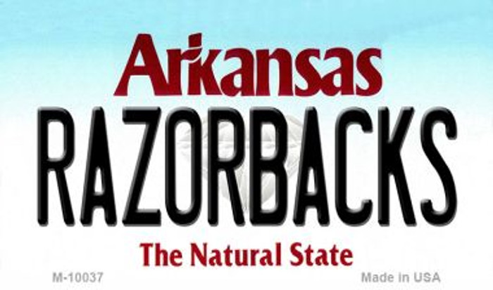 Razorbacks Arkansas State License Plate Magnet Novelty M-10037