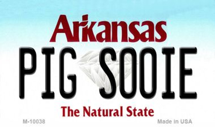 Pig Soonie Arkansas State License Plate Magnet Novelty M-10038