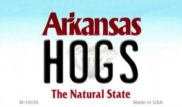 Hogs Arkansas State License Plate Magnet Novelty M-10039