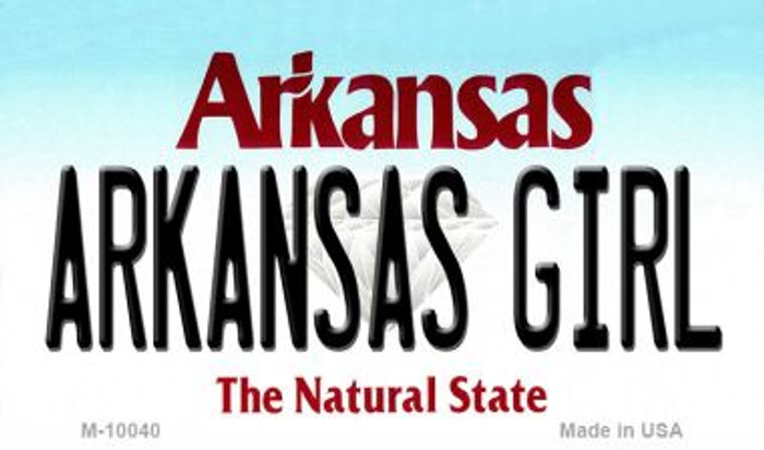 Arkansas Girl State License Plate Magnet Novelty M-10040