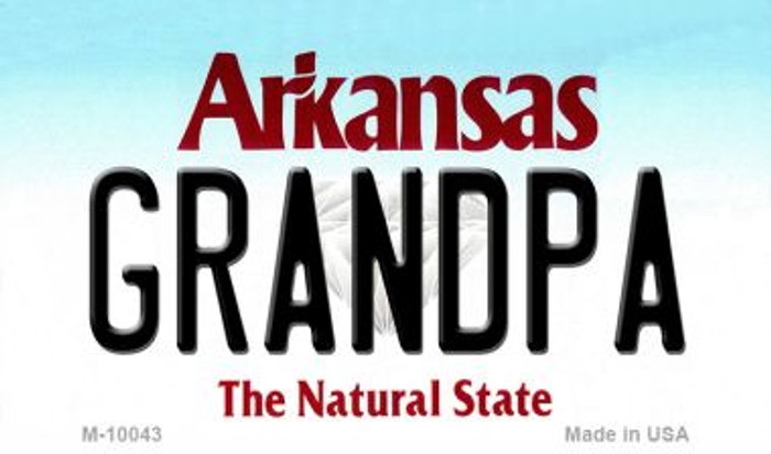 Grandpa Arkansas State License Plate Magnet Novelty M-10043