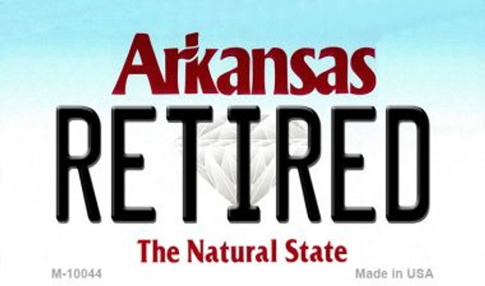 Retired Arkansas State License Plate Magnet Novelty M-10044