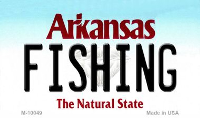 Fishing Arkansas State License Plate Magnet Novelty M-10049