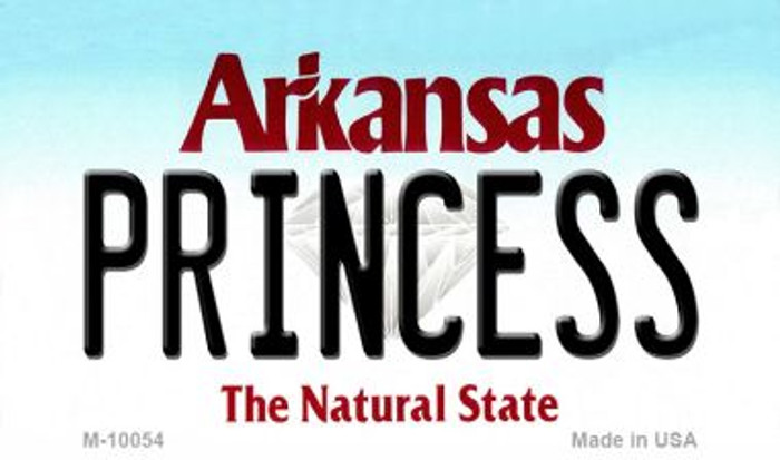 Princess Arkansas State License Plate Magnet Novelty M-10054