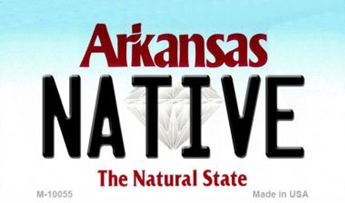 Native Arkansas State License Plate Magnet Novelty M-10055