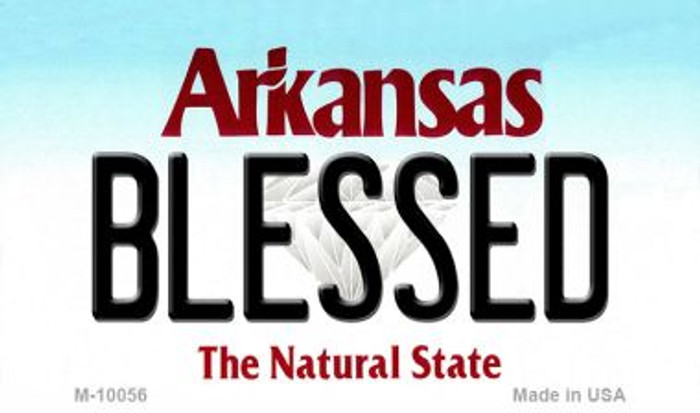 Blessed Arkansas State License Plate Magnet Novelty M-10056