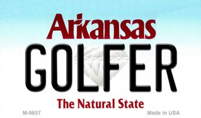 Golfer Arkansas State License Plate Magnet Novelty M-10057