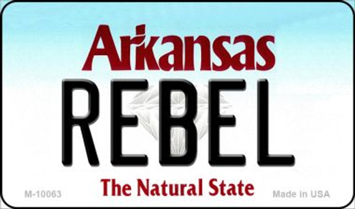 Rebel Arkansas State License Plate Magnet Novelty M-10063