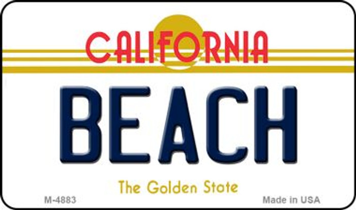 Beach California State License Plate Magnet M-4883