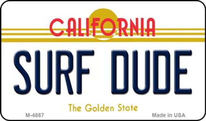 Surf Dude California State License Plate Magnet M-4887