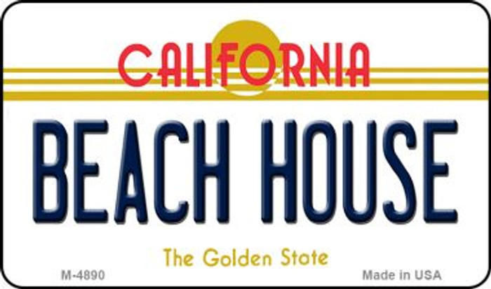 Beach House California State License Plate Magnet M-4890