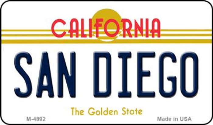San Diego California State License Plate Magnet M-4892