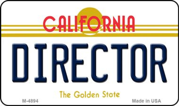 Director California State License Plate Magnet M-4894