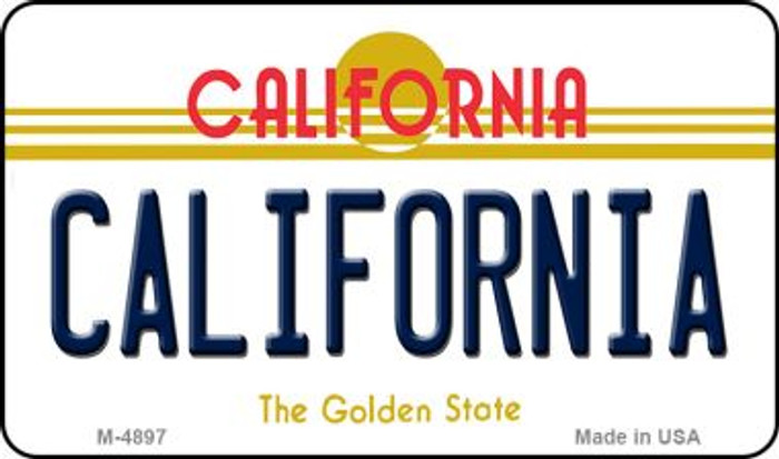California California State License Plate Magnet M-4897