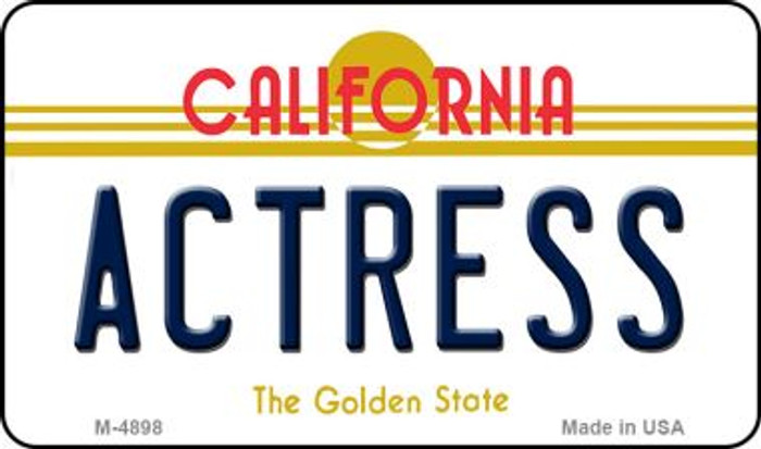 Actress California State License Plate Magnet M-4898