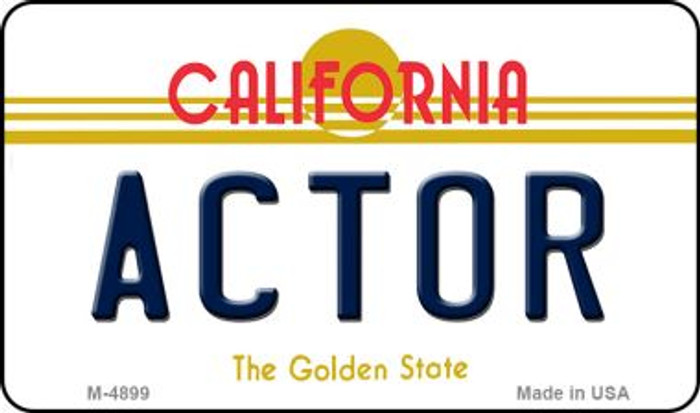 Actor California State License Plate Magnet M-4899