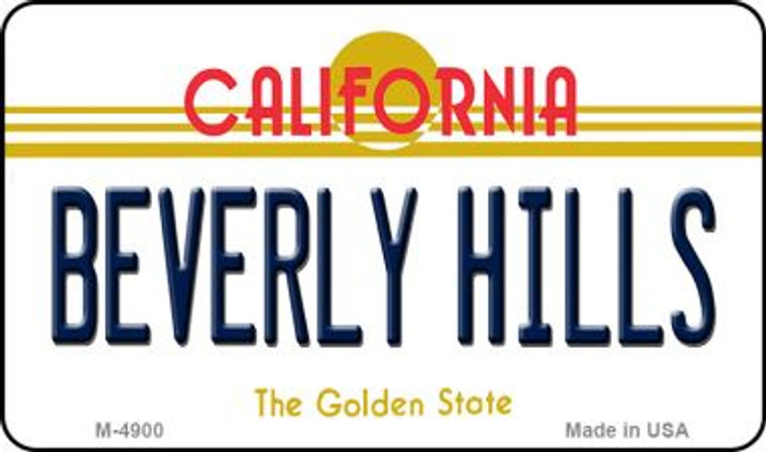 Beverly Hills California State License Plate Magnet M-4900
