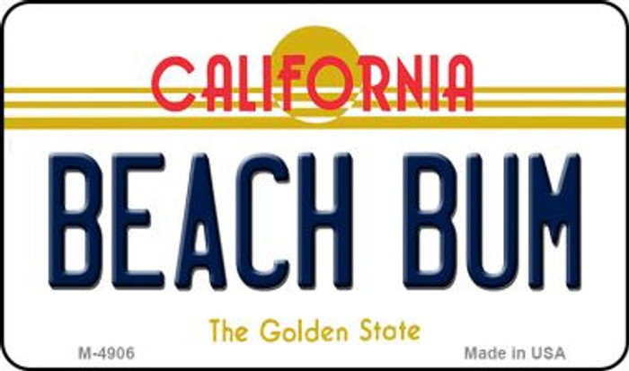 Beach Bum California State License Plate Magnet M-4906