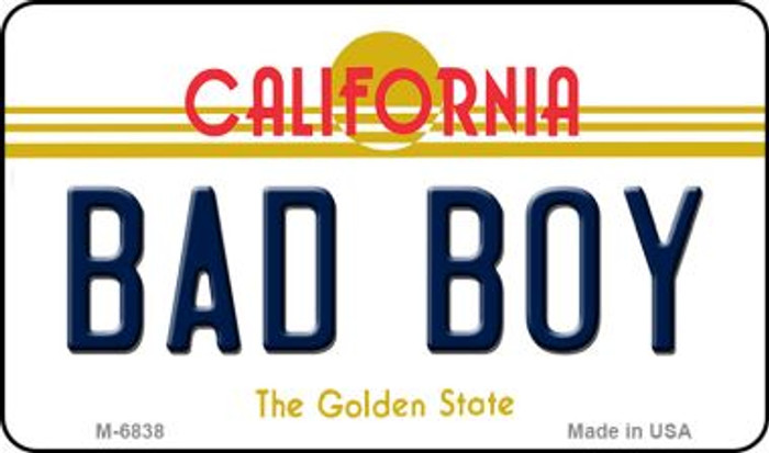 Bad Boy California State License Plate Magnet M-6838