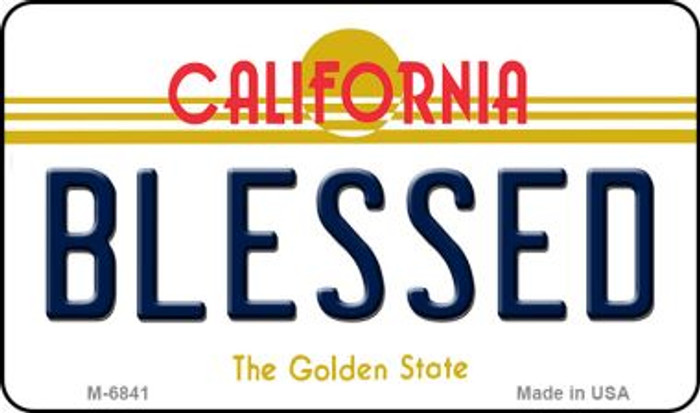 Blessed California State License Plate Magnet M-6841
