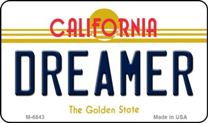 Dreamer California State License Plate Magnet M-6843
