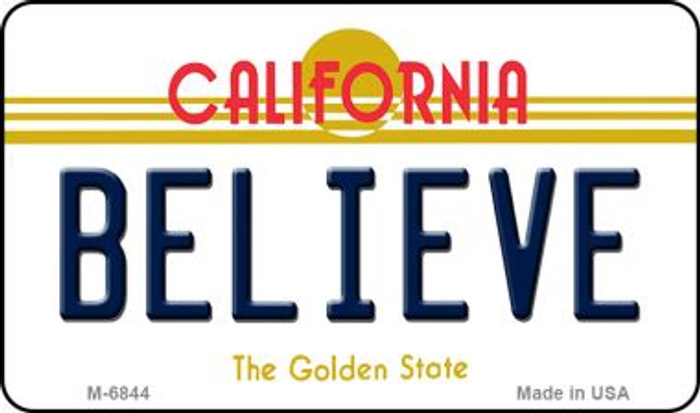 Believe California State License Plate Magnet M-6844