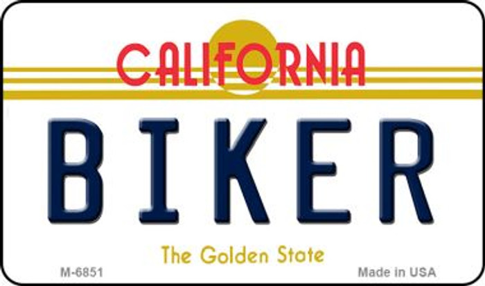 Biker California State License Plate Magnet M-6851
