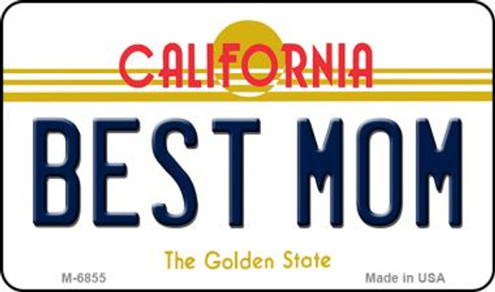 Best Mom California State License Plate Magnet M-6855