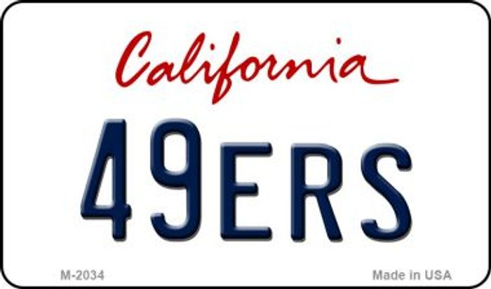 49ers California State License Plate Magnet M-2034
