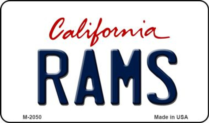 Rams California State License Plate Magnet M-2050