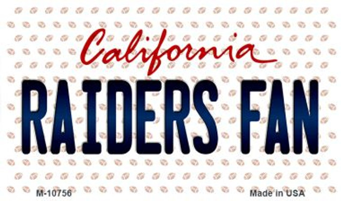 Raiders Fan California State License Plate Magnet M-10756