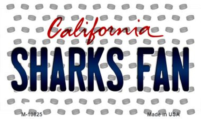 Sharks Fan California State License Plate Magnet M-10825