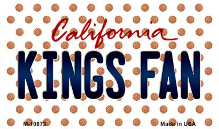 Kings Fan California State License Plate Magnet M-10873